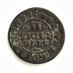 Dansk sølvskilling fra 1677.